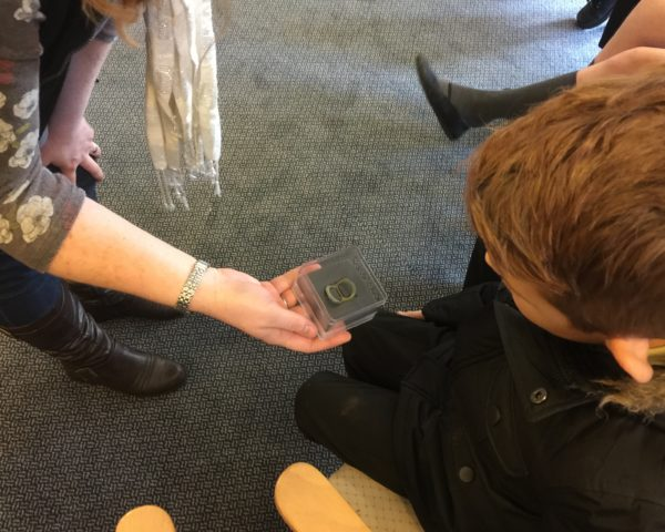 pupils enjoyed a 'hands-on' presentation of finds from previous archaeological excavations at Waverley House Leominster