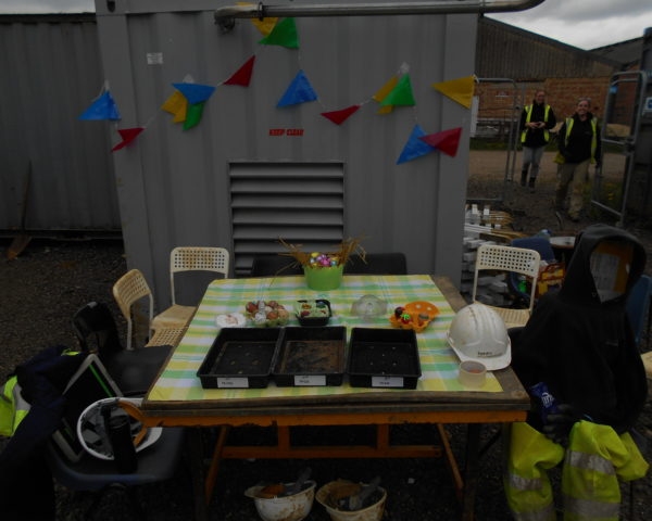 Field Archaeologistsrace to see who haswon the Milton Keynes 2017 Decorated Easter Egg competition at Common Farm.