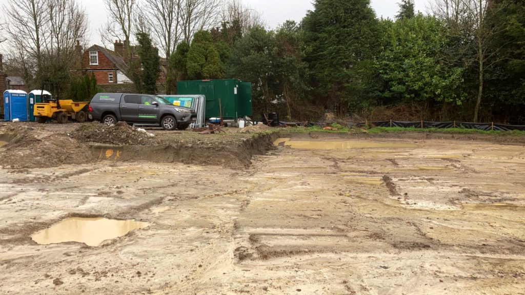 Archaeology site in Kent