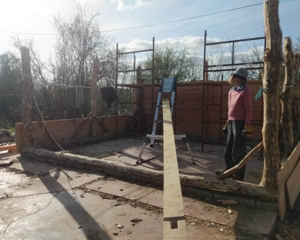 Lifting back tie beam