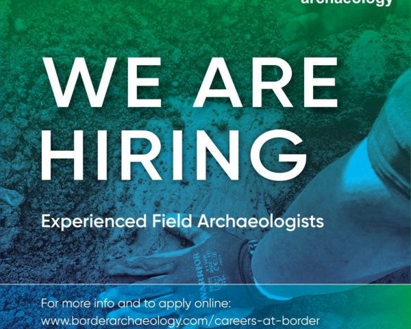 We are hiring Archaeologists