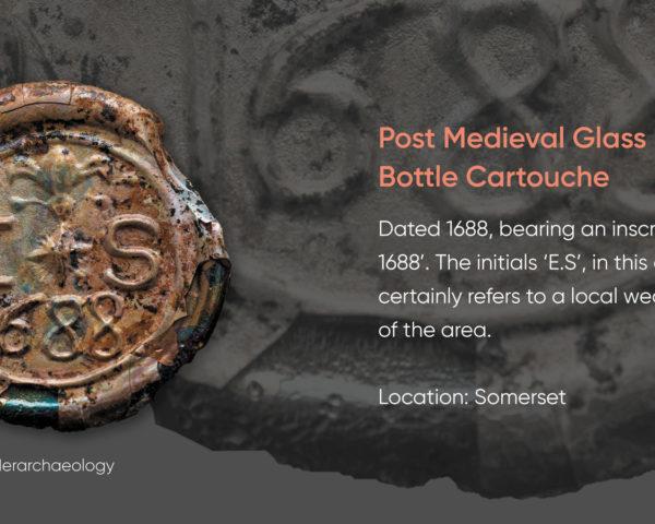 Post Medieval Glass Bottle Cartouche