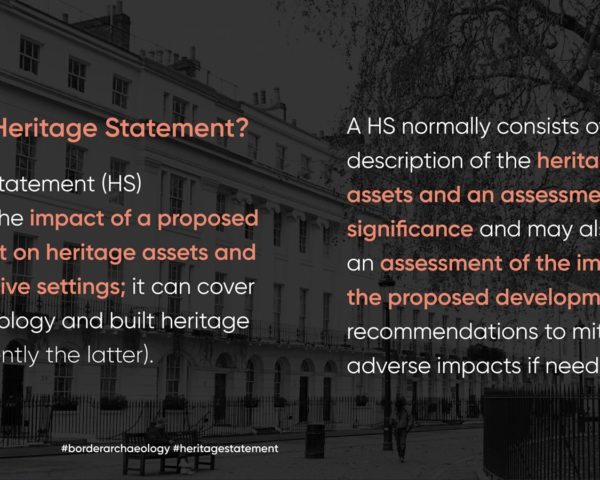 what is a heritage statement