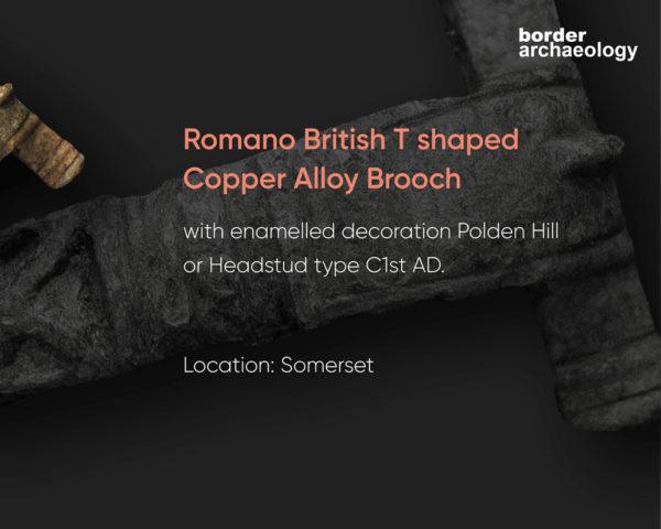 Romano British T shaped Copper Alloy Brooch